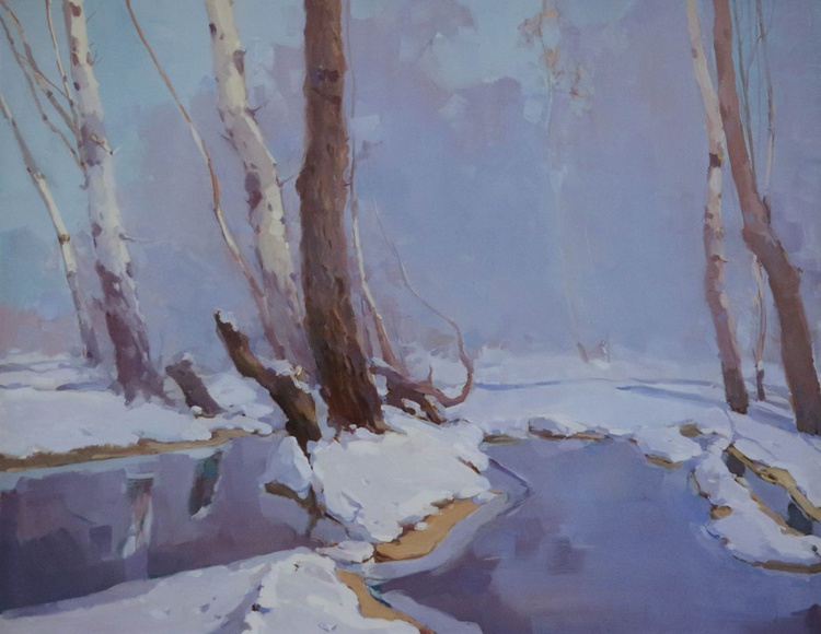 Winter's Dream Large Landscape Original oil painting  Hand painted art work One of a kind - Image 0