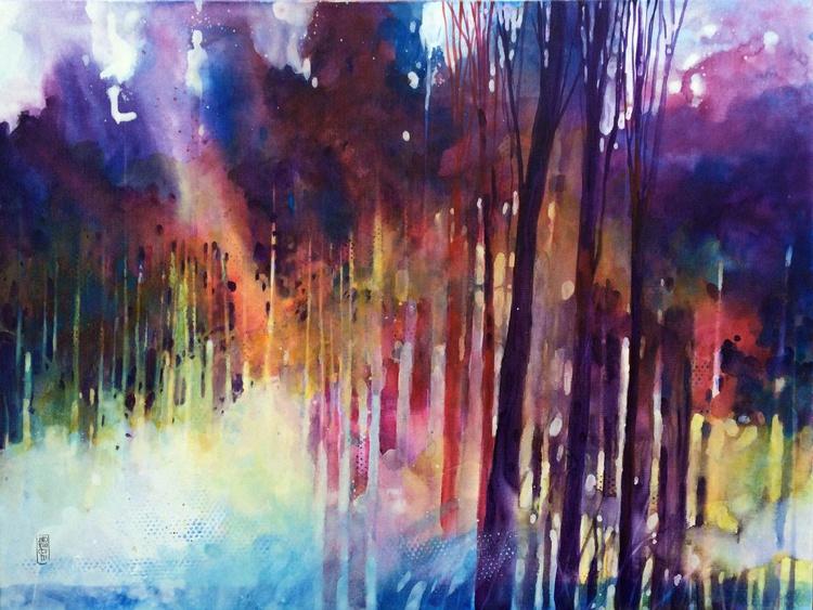 Lampi di luce nella foresta - Image 0