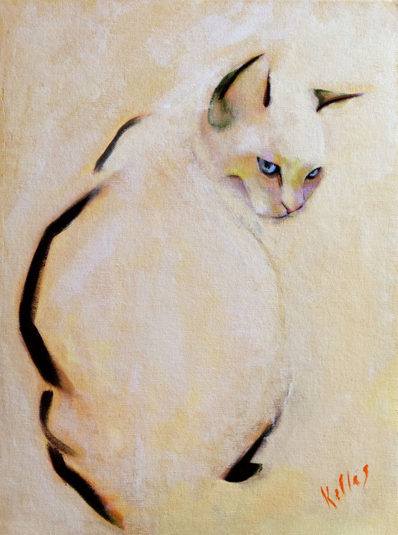 Painting of Charlie the cat - Image 0