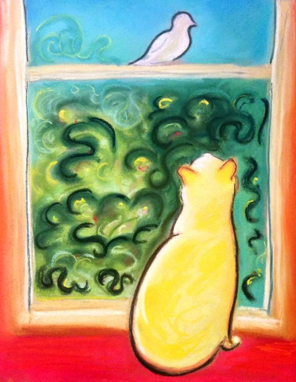 Cat and Bird - Image 0