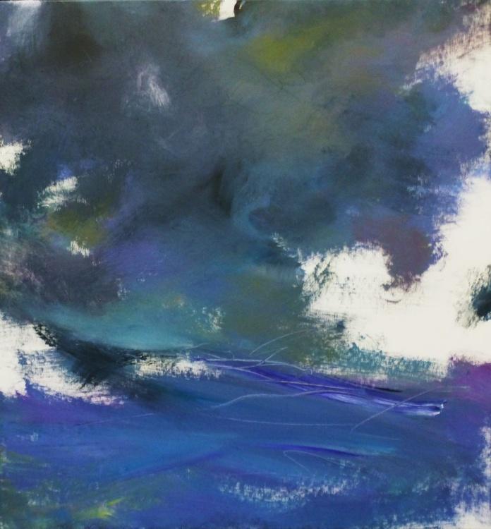 Seascape, 95x90cm. - Image 0