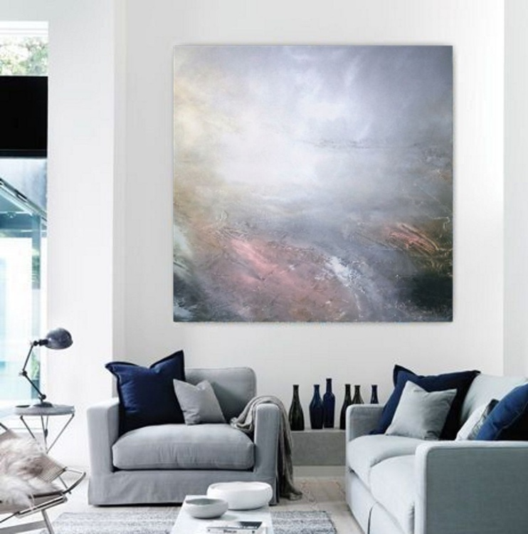 Dream Landscape Extra Large Textured abstract painting - Image 0