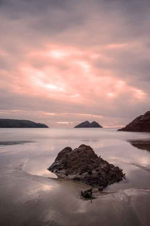 Holywell Bay Sunset -