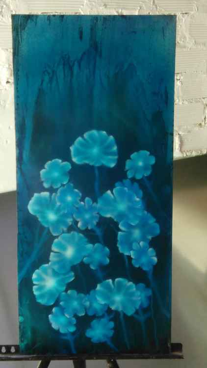 Blue Blooms -