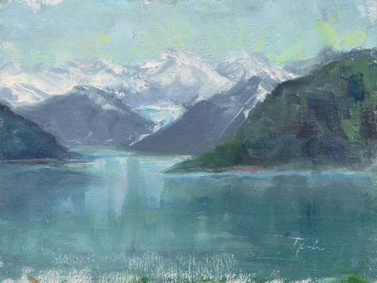 Glacial Waters - plein air Inside Passage - Image 0