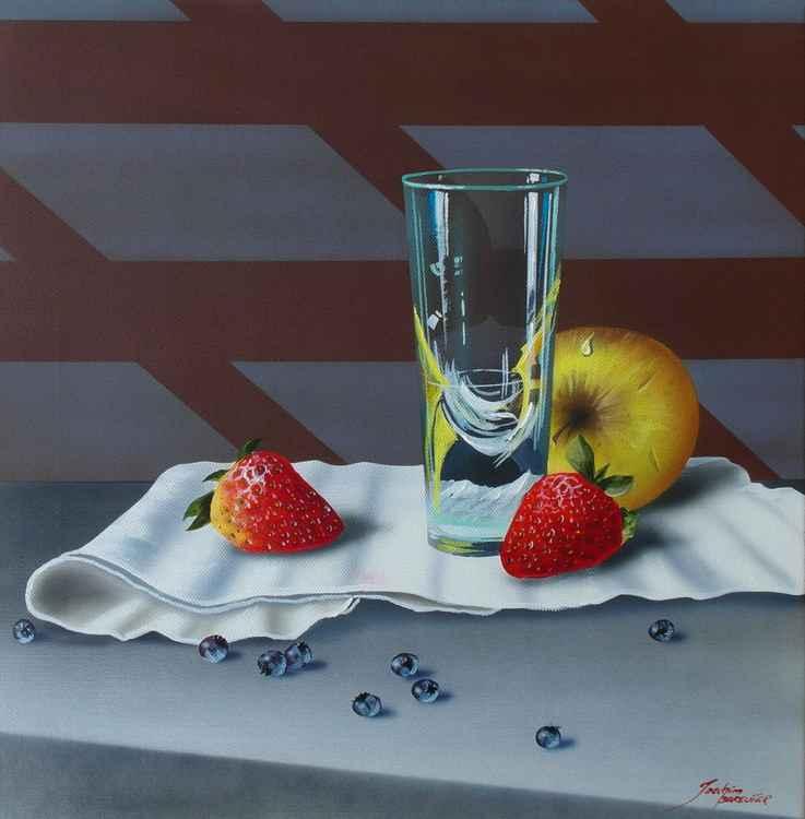 Glas mit Früchten