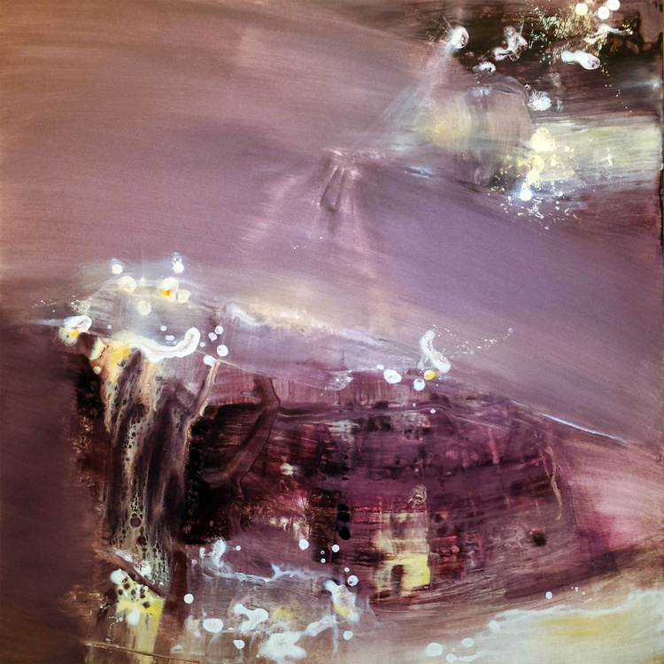 ABSOLUTELLY FANTASTIC DREAMSCAPE METHALSCAPE CHIMERA FANTASTIC ART ONIRIC UNIVERSE SIGNED MASTER KLOSKA - Image 0