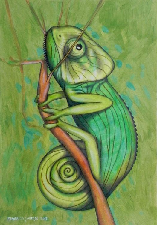 green chameleon - Image 0