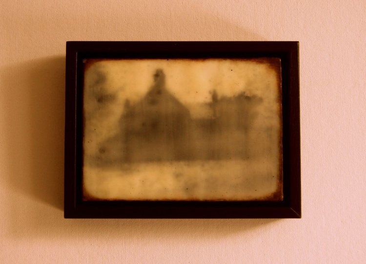 Framed Encaustic .., Memories of the Farmhouse.., - Image 0