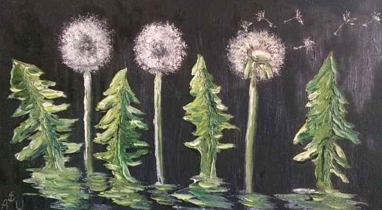 Dandelions. Flash in the night. Blow ... -