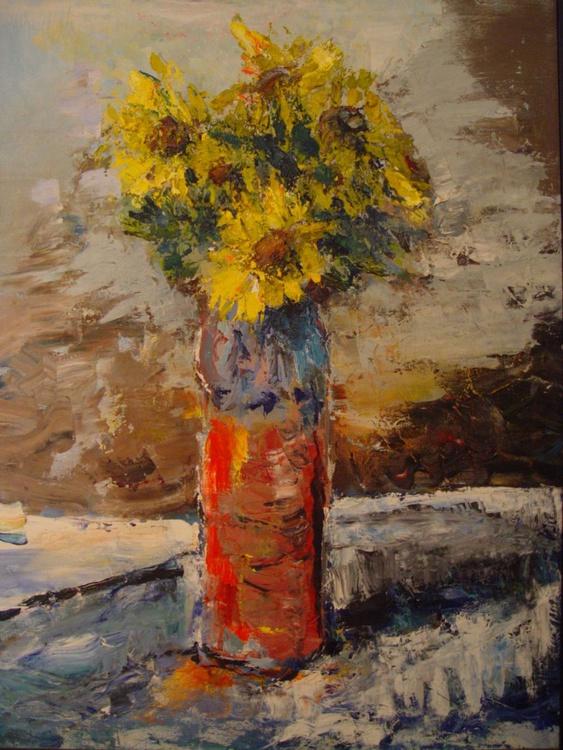 Sunflowers In Vase - Image 0