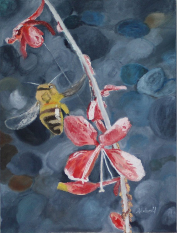 Bee &  Red Flower Spirit Charity Friends of the Earth - Image 0
