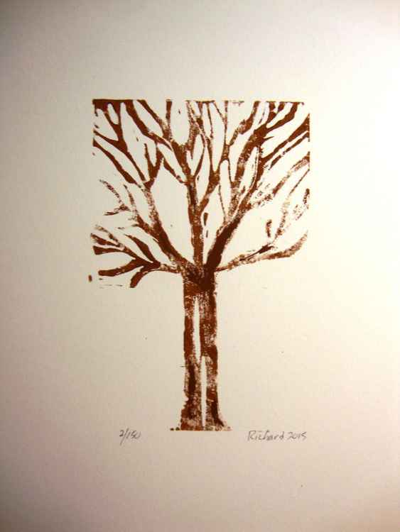 Brown tree on white background