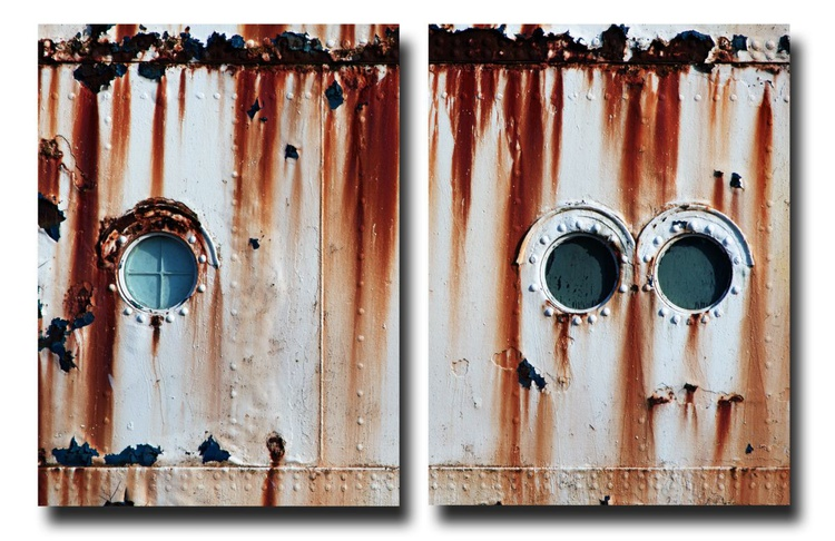 The Fun Ship 6 (Diptych) - 1/7 - Two 16x12in Aluminium Panels - Image 0