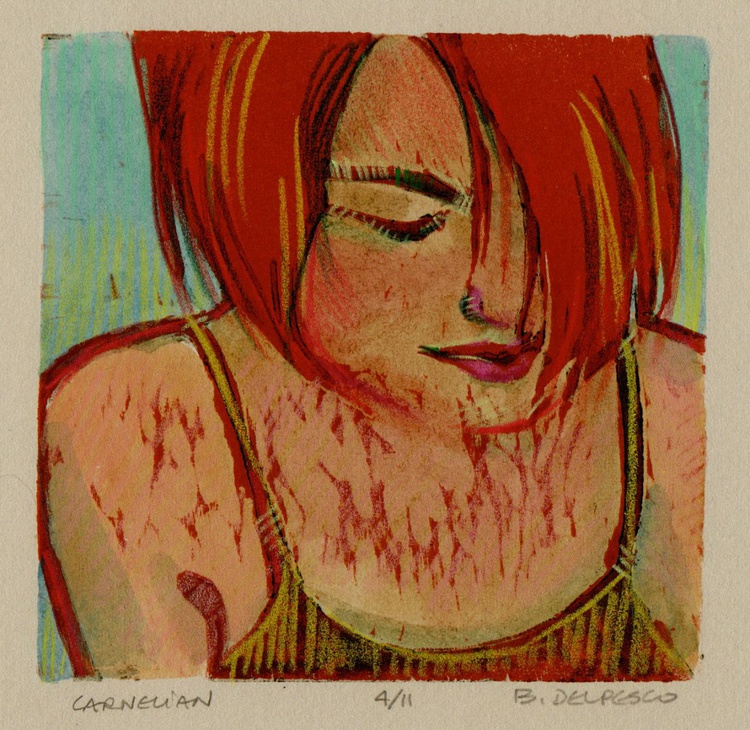 Carnelian - Framed Color Woodcut - Image 0