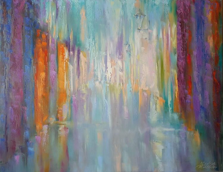 painting  *Сolorful rain* Оil on canvas 90х70cm - Image 0