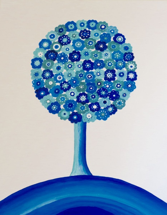 Blue Flower Tree - Image 0