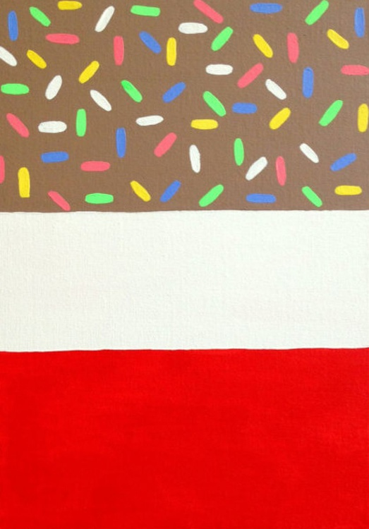 Fab Ice Lolly Pop Art Painting With Sprinkles, Original Acrylic Painting On Canvas - Image 0