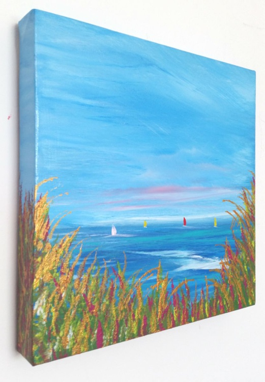 Sea View to remember - Great gift for Beach Lovers;  Modern Art Office Decor Home Seascape - Image 0