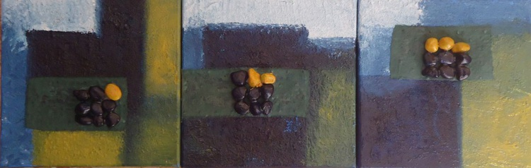 SET OF 3 SMALL PAINTINGS (5) - Image 0