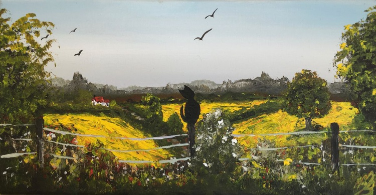 Rapeseed fields and the cat - Image 0
