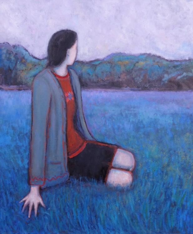 Girl staring at woods - Image 0