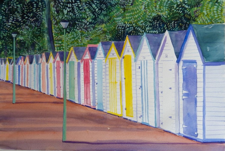 Colourful beach Huts - Image 0