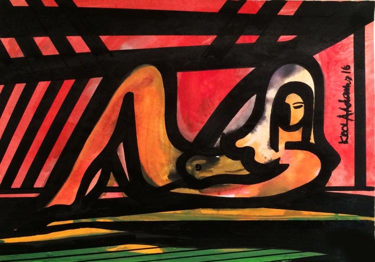 'Reclining Nude' - Image 0