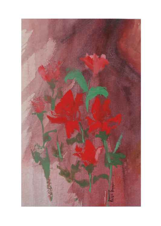 Red Roses (Mini Painting) -