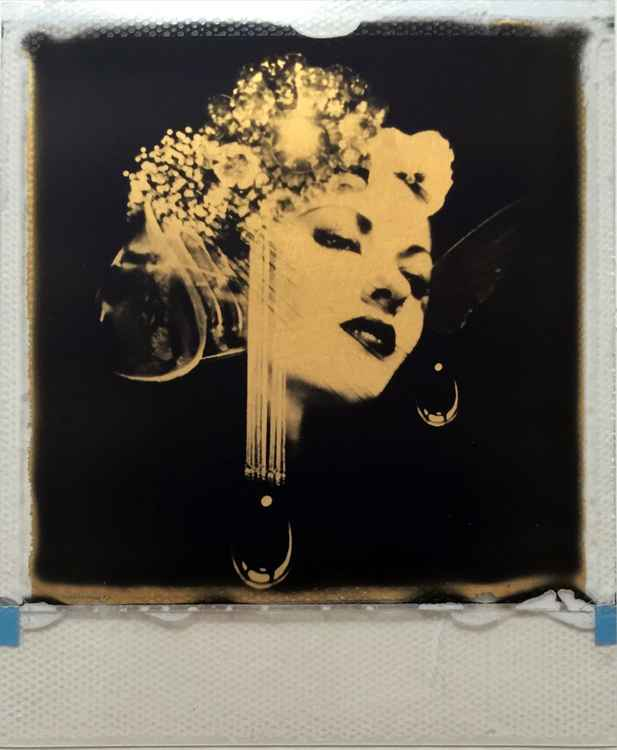 Before You 24ct gold leaf Polaroid collage -