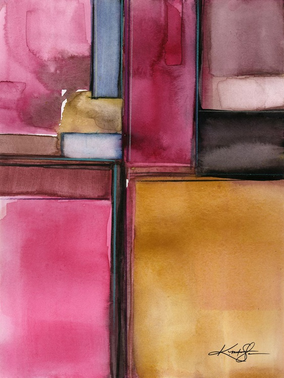Sacred Balance 3 - Abstract Watercolor Painting - Image 0