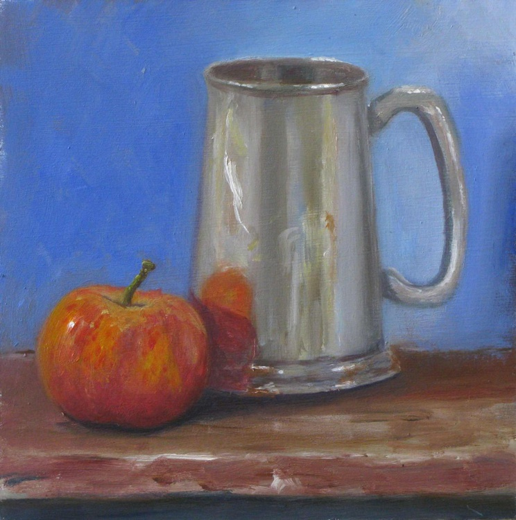 Silver Jug And apple - Image 0
