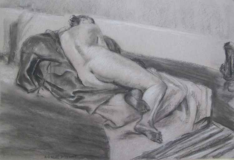 Reclining female nude (For Sam) -