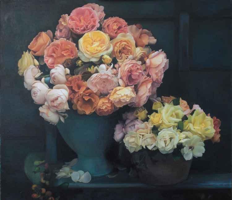 tea roses -