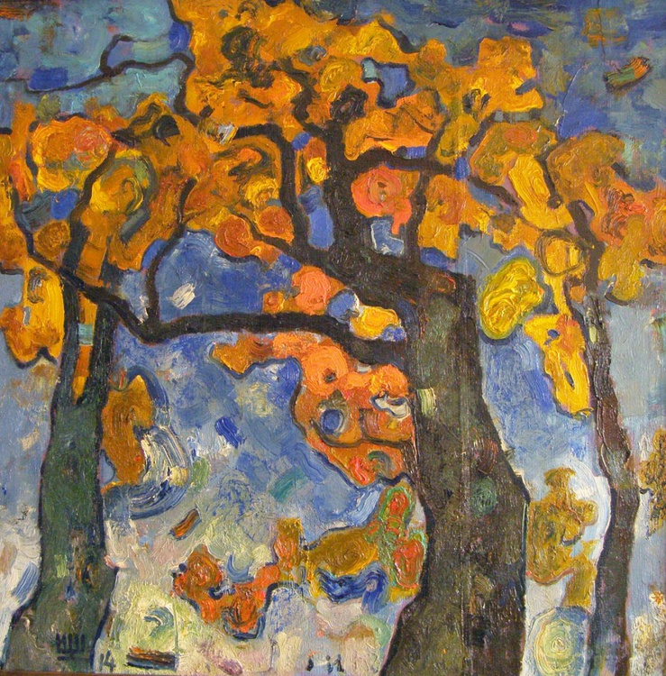 """Autumn oaks"". 2014. Oil on canvas. 90x90cm. - Image 0"