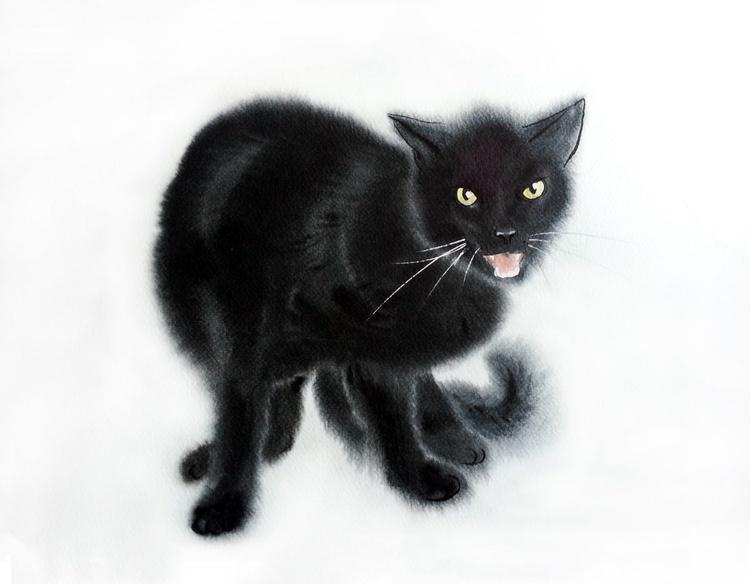 Hissing Black Cat - Image 0