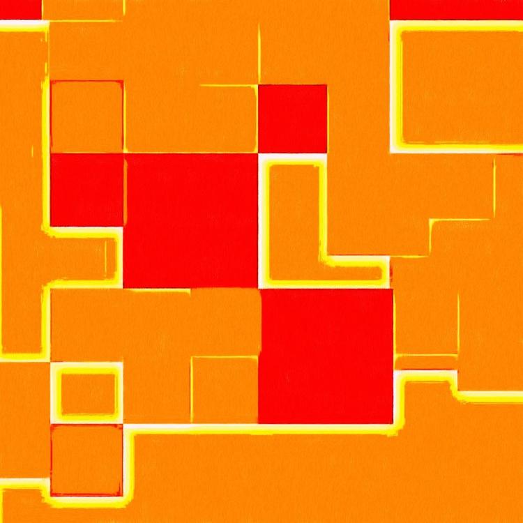 "C.D.E. 03 - Monoprint on Forex Board - 11.81 x 11.81"" - FREE SHIPPING - Image 0"