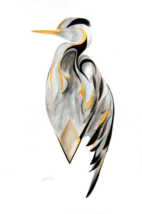 Gold and silver bird - Image 0