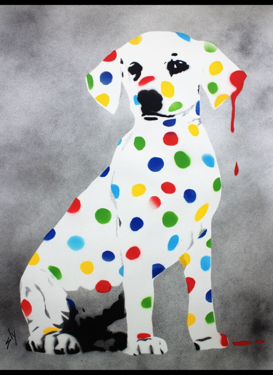 Damien's Dotty, Spotty, Puppy Dawg (On plain paper)+ Free Poem - Image 0