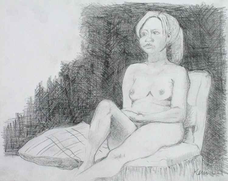 Sitting Nude Figure Study -