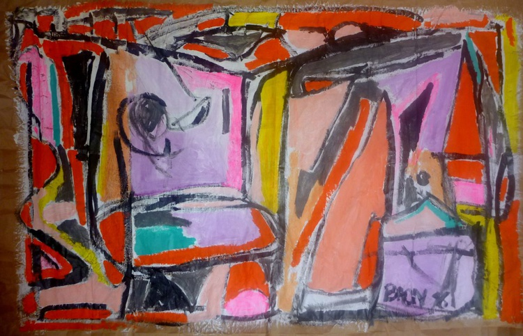 Grande abstraction fluo - Image 0