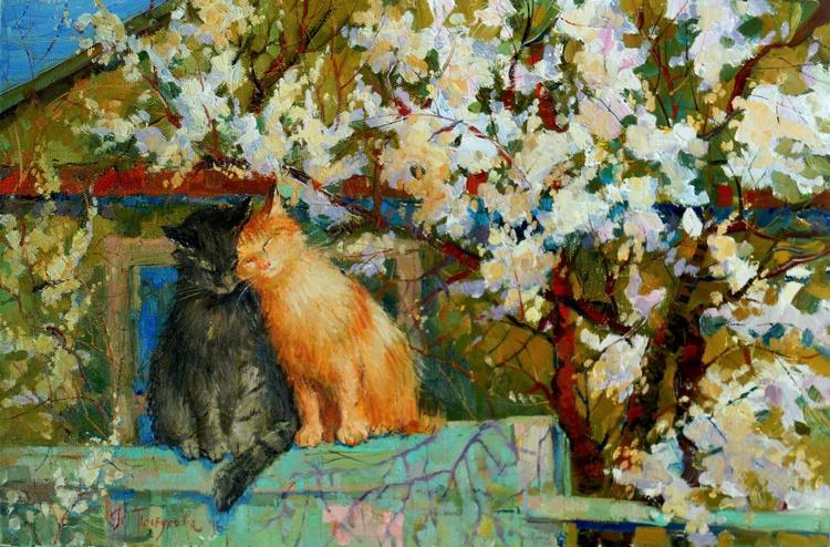 Spring cat love - Image 0