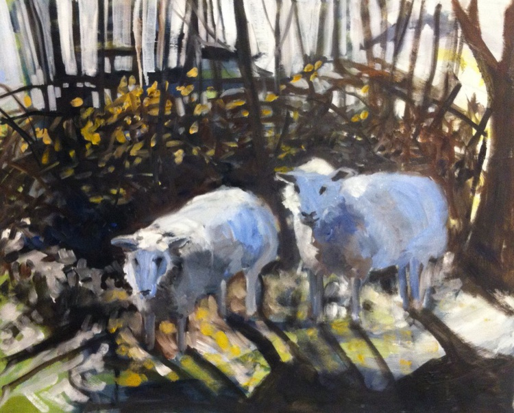 Sheep in the Woods - Image 0