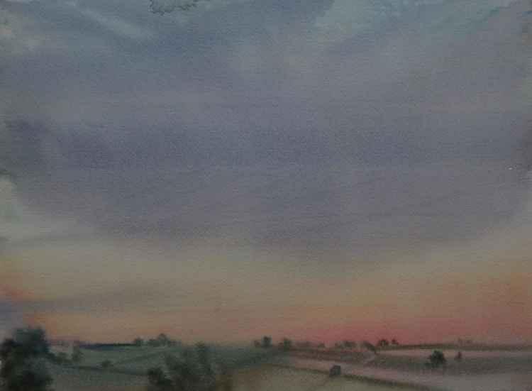 Sunset over the Moor, Devon