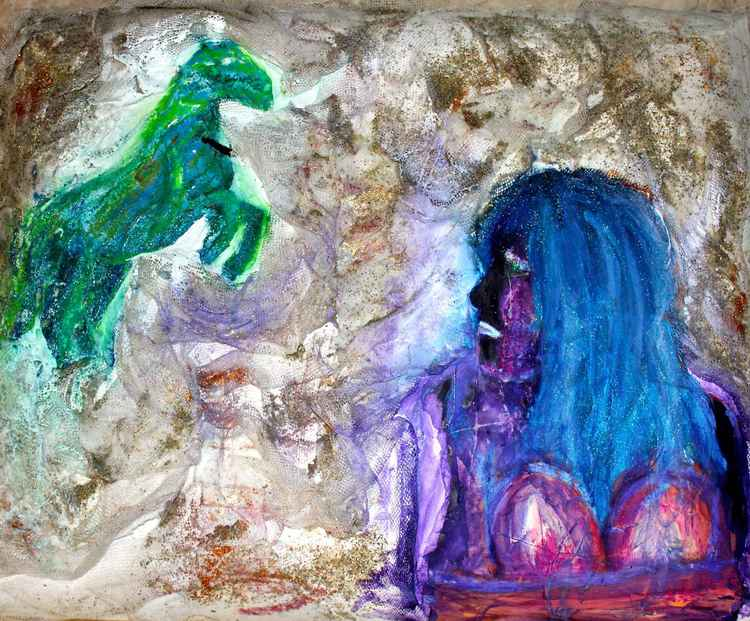 The girl and the horse -