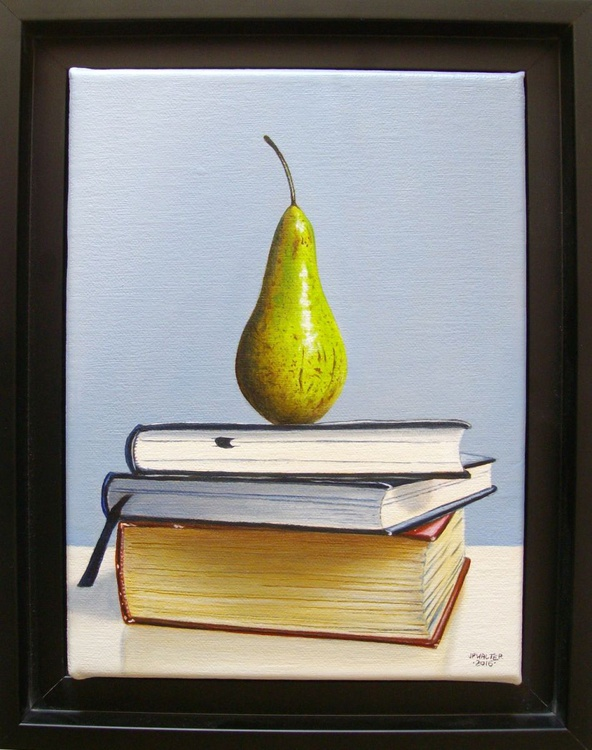 Pear on books / FREE SHIPPING - Image 0