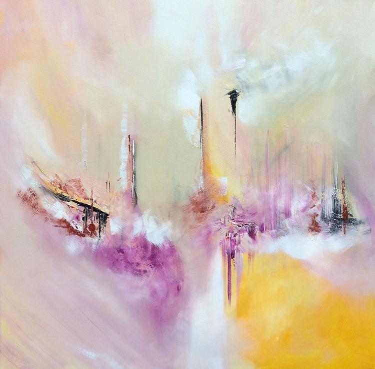 """""""SHE"""" / Acrylic Painting 32x32x1.6"""" - Image 0"""