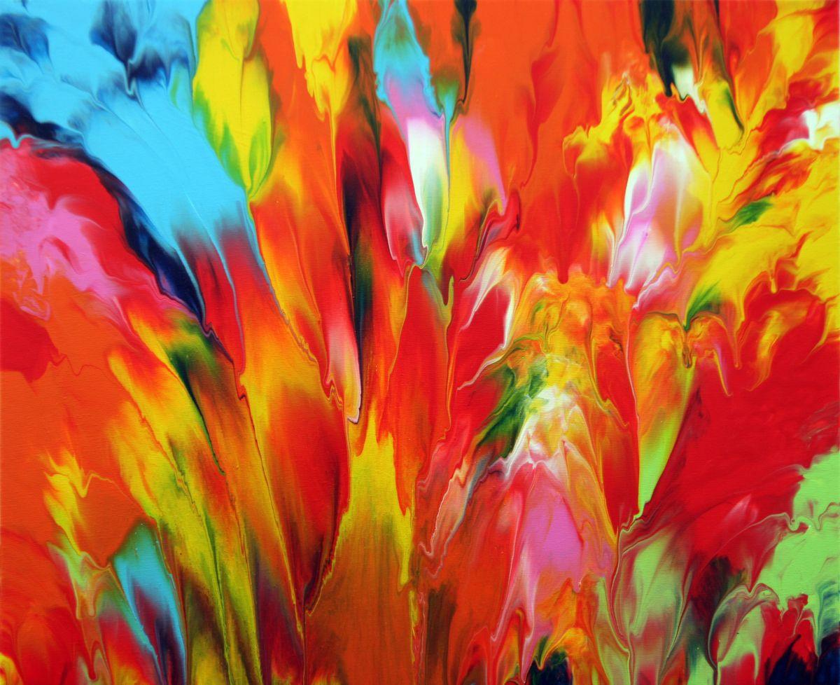 Autumn Colors 2016 Acrylic Painting By Behshad Arjomandi