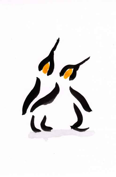 Two penguins 1015B