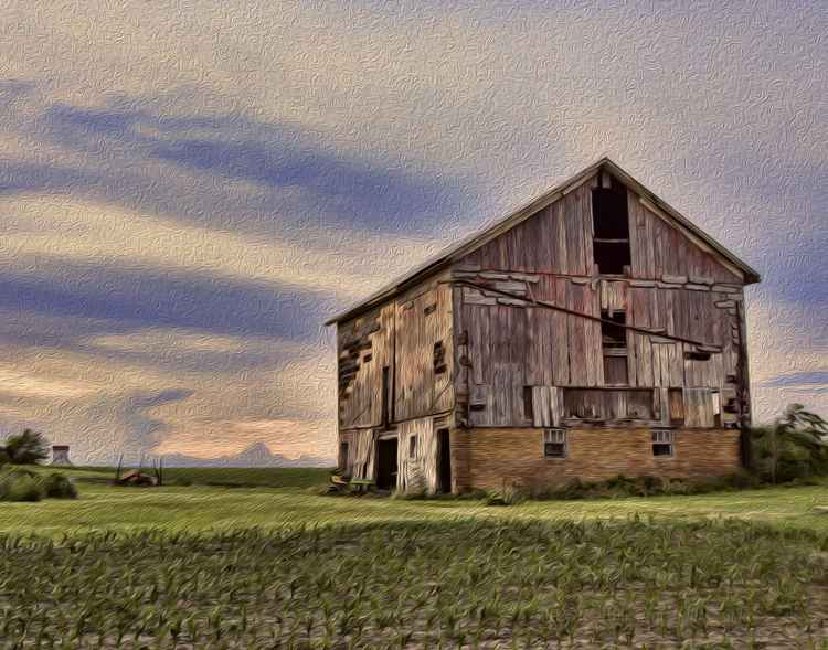 Old Barn on the American Prairie -